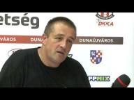 DKKA - Budaörs (33-22) Mihály Attila nyilatkozik